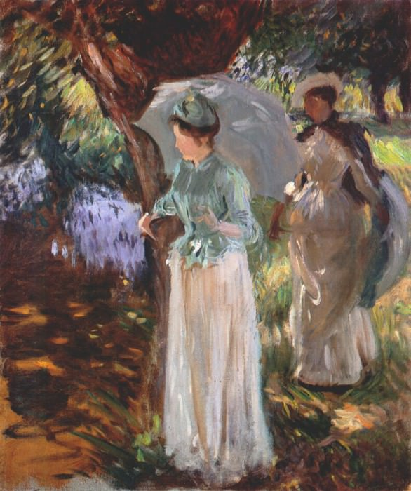 sargent two girls with parasols 1888. Сарджент,