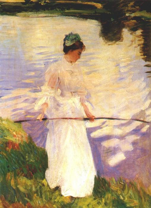 sargent violet fishing 1889. A Sargent