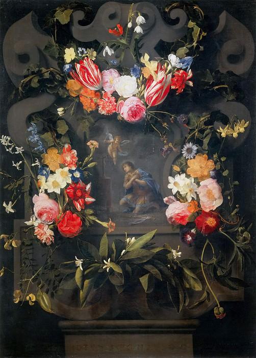 Цветочная гирлянда со святым Госвейном. Даниель Сегерс