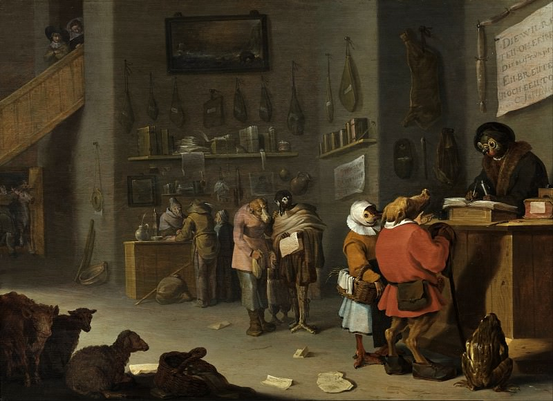 Who sues for a cow. Cornelis Saftleven