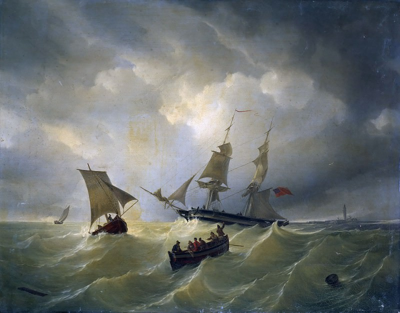 North Sea at Cuxhaven. Karl Friedrich Schulz
