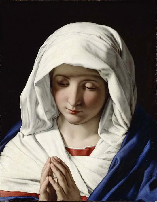The Virgin praying. Sassoferrato (Giovanni Battista Salvi)