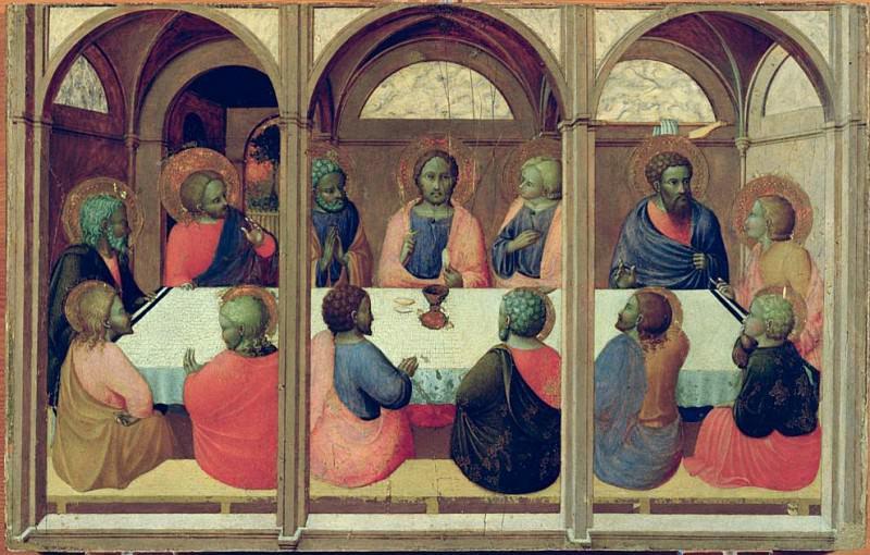 The Last Supper, from the Arte della Lana Altarpiece. Sassetta (Stefano di Giovanni)