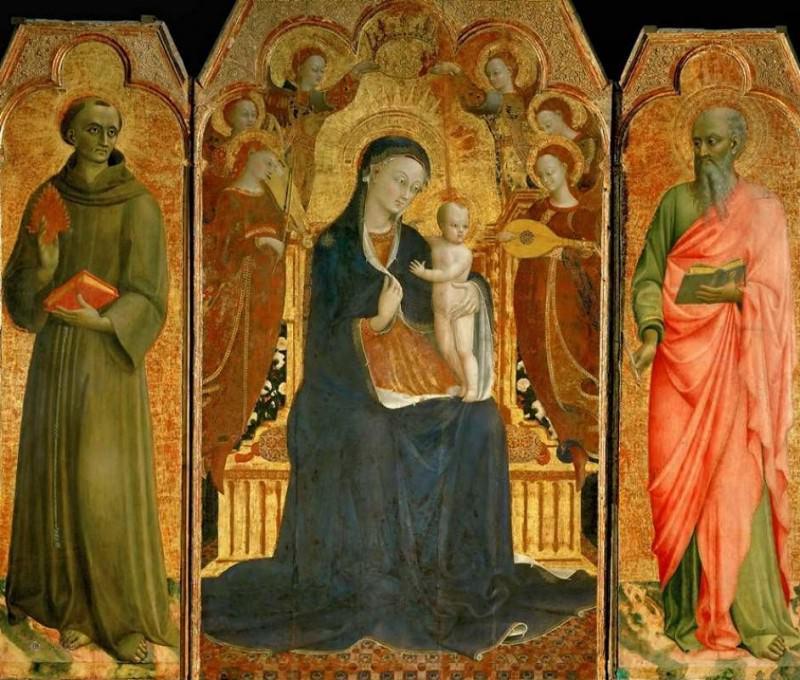 Virgin and Child with Saints. Sassetta (Stefano di Giovanni)