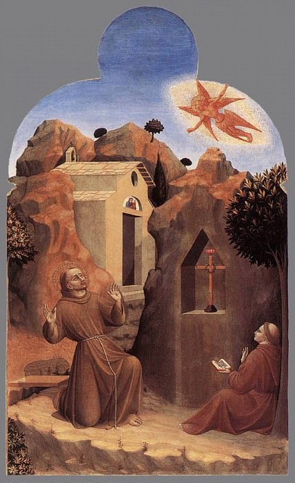 The Mystic Marriage of St. Francis. Sassetta (Stefano di Giovanni)