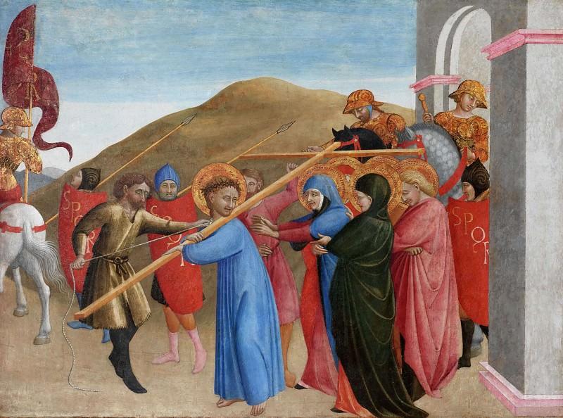 The Procession to Calvary. Sassetta (Stefano di Giovanni)
