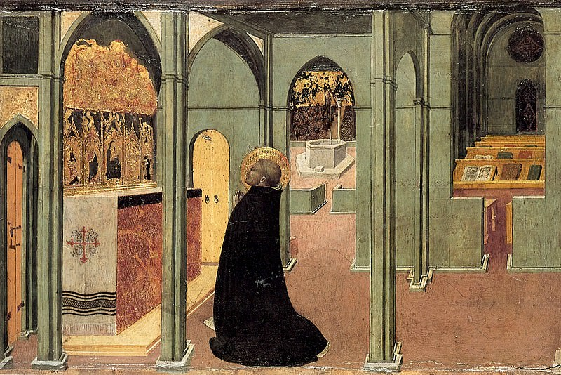 St. Thomas Inspired by the Dove of the Holy Ghost. Sassetta (Stefano di Giovanni)