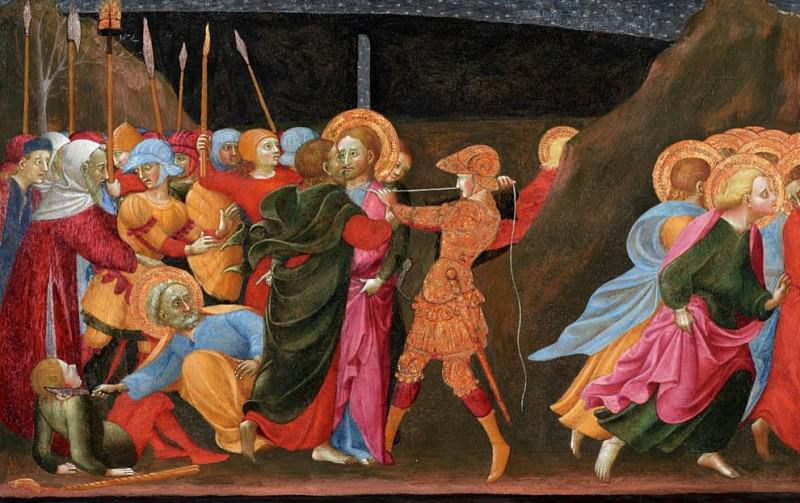 The Betrayal of Christ. Sassetta (Stefano di Giovanni)
