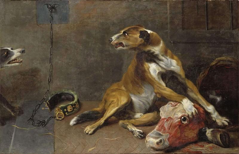 Собаки, сражающиеся за голову тлеющего быка. Франс Снейдерс (Мастерская)