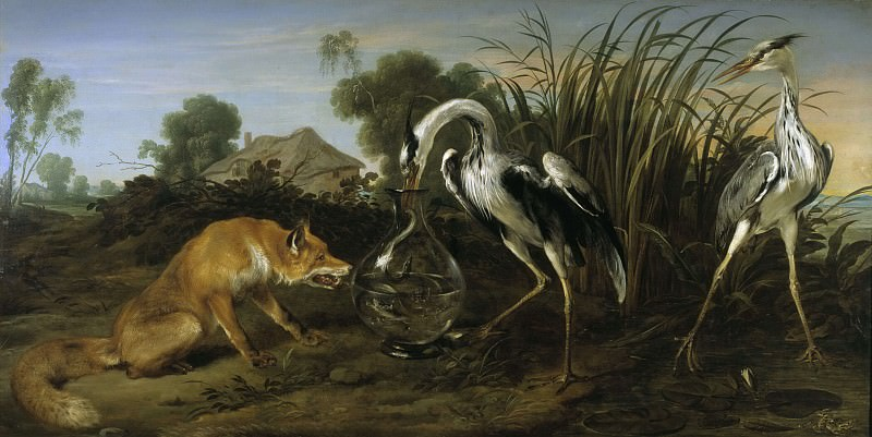 The Fox Visiting the Heron. Frans Snyders