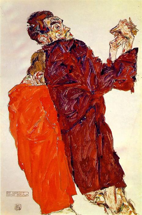 Schiele The truth unveiled, 1913, 48.3 x 32.1 cm,. Egon Schiele
