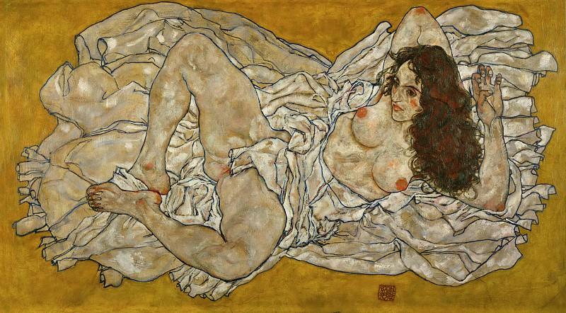 Reclining formal nude. Эгон Шиле