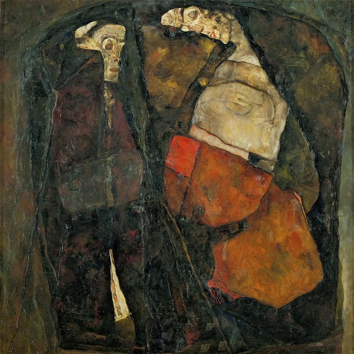 Pregnant Woman and Death. Egon Schiele