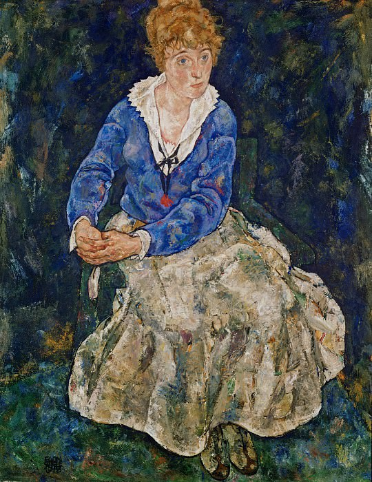 Portrait of the Artists Wife, Seated, 139.5x109.2 c. Egon Schiele