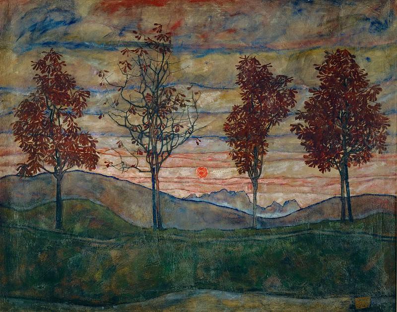 Four Trees. Egon Schiele