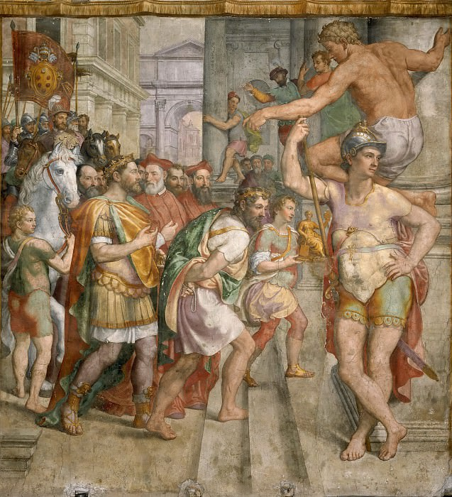 Donation of Pepin. Girolamo Siciolante