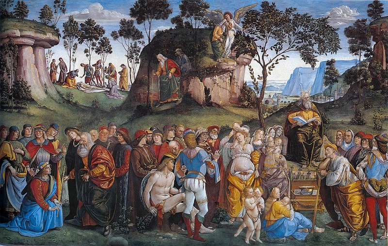 Moses's Testament and Death. Luca Signorelli