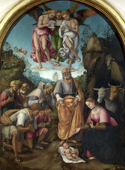 Adoration of the shepherds. Luca Signorelli