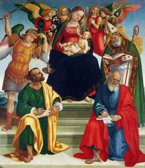 Madonna and Child with Saints and Angels. Luca Signorelli