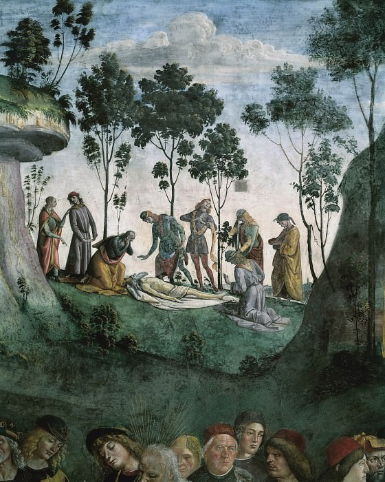 Moses's Testament and Death (detail). Luca Signorelli