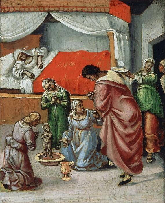 Birth of St. Nicholas of Bari. Luca Signorelli (Workshop)