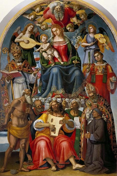 Virgin and Child with Saints and Niccolo Gamurrini. Luca Signorelli