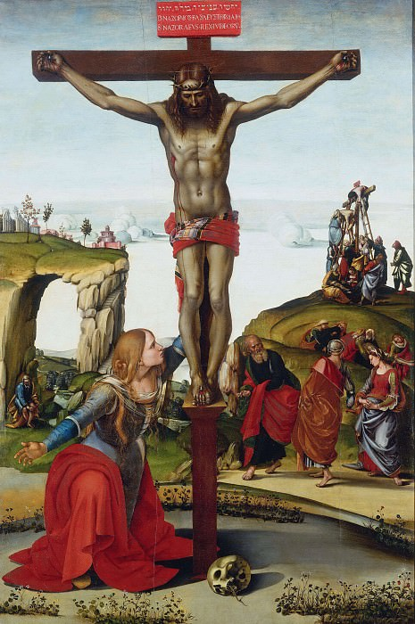 The Crucifixion with St. Mary Magdalen. Luca Signorelli