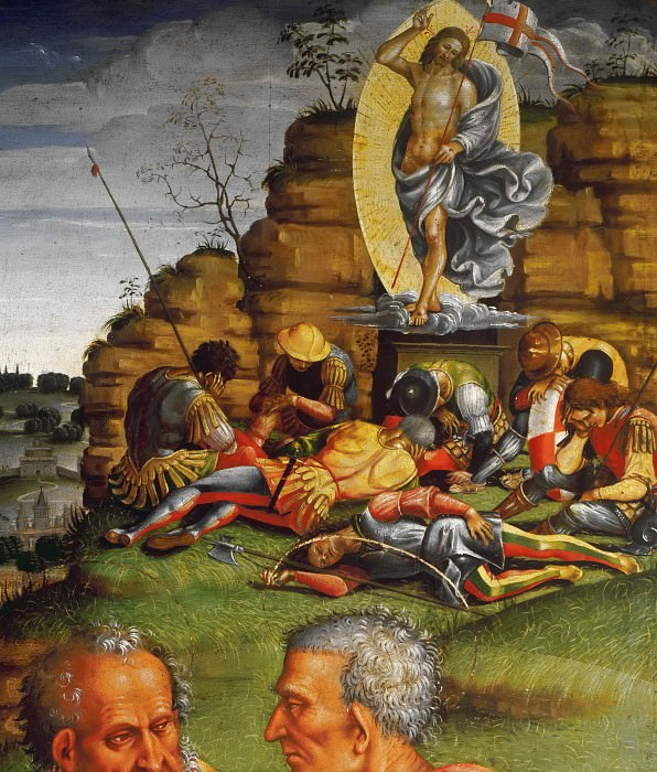 Deposition from the Cross, detail. Luca Signorelli