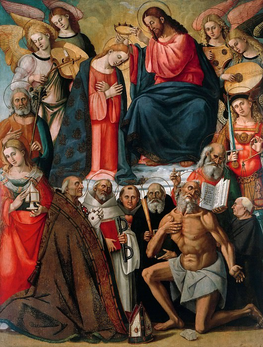 Coronation of the Virgin with Angels and Saints. Luca Signorelli