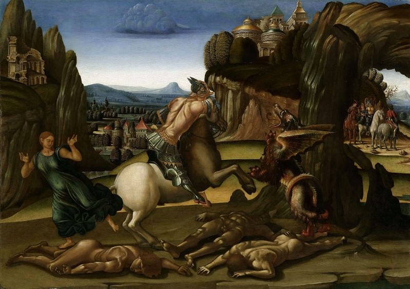 Saint George and the Dragon. Luca Signorelli