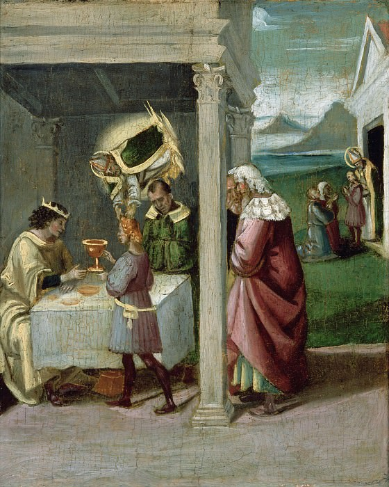 St. Nicholas Rescues Adeodatus. Luca Signorelli (Workshop)