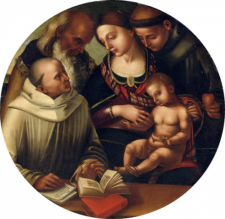 THE MADONNA AND CHILD WITH SAINTS. Luca Signorelli