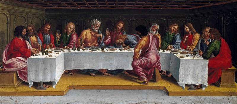 Deposition from the Cross, predella - The Last Supper. Luca Signorelli