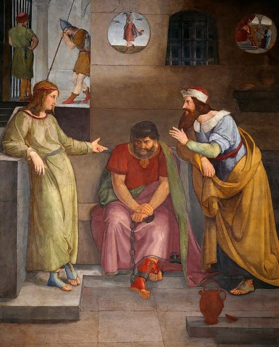 Joseph in Prison Interprets the Dreams of the Butler and Baker. Friedrich Wilhelm Von Schadow