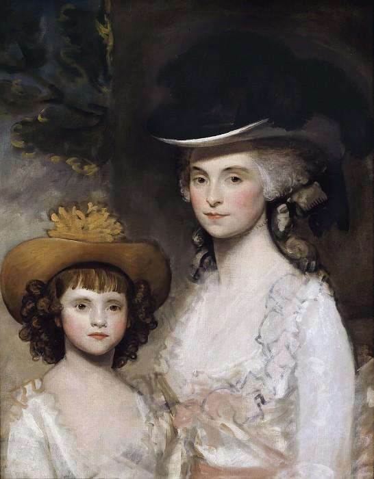 Mrs. Blades and her Daughter. Gilbert Stuart
