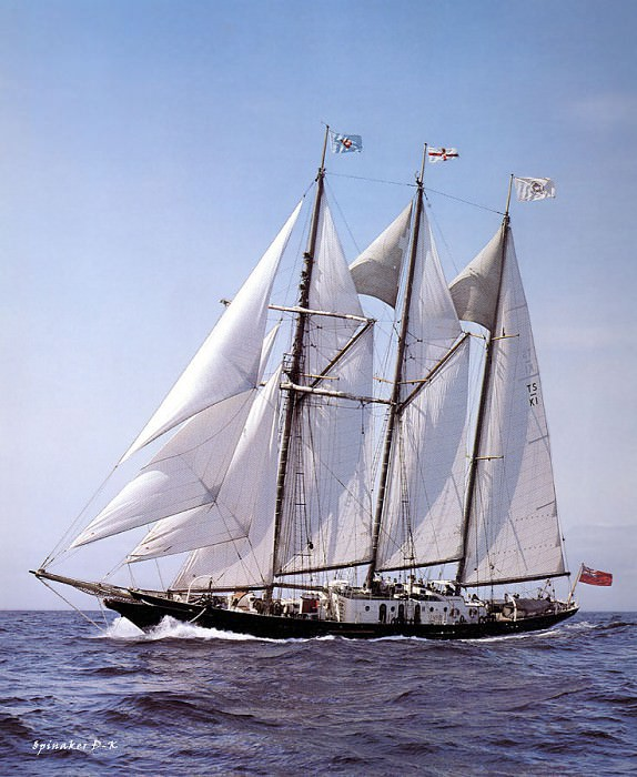 dk tall ships sir winston churchill lyr 1966. D K Spinaker