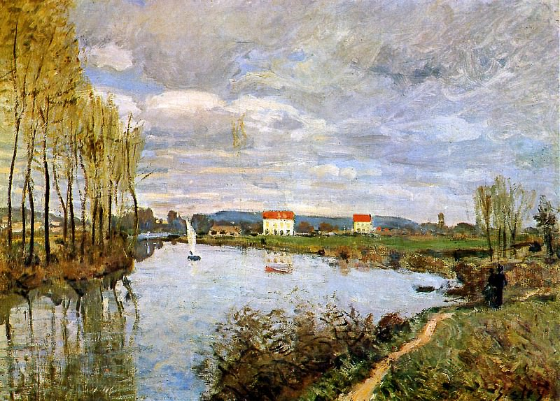 Sisley Alfred The Seine at Argenteuil Sun. Alfred Sisley
