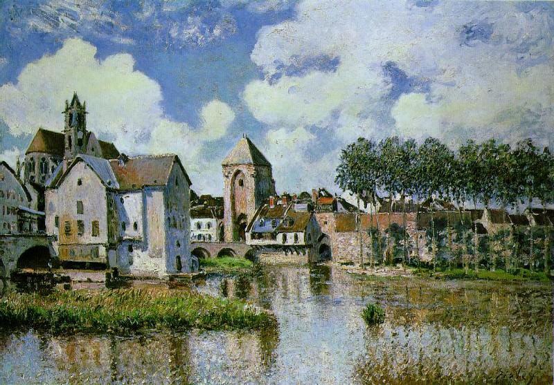 Sisley Moret-sur-Loing, 1891, 65x92 cm, Galerie H. Odermatt-. Alfred Sisley