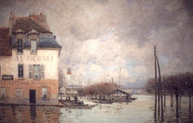 A St Nicolas. Alfred Sisley
