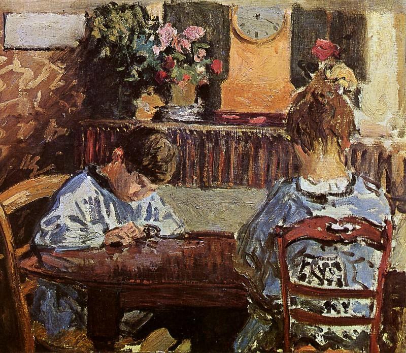 Sisley Alfred The Lesson Sun. Alfred Sisley