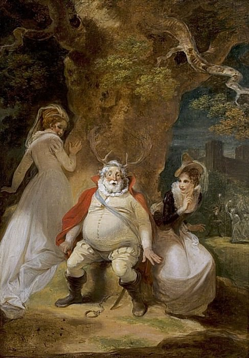 The Merry Wives of Windsor, Act V, Scene 5 Falstaff Disguised as Herne. Robert Smirke