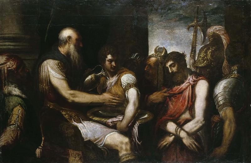 Christ before Pilate. Andrea Schiavone