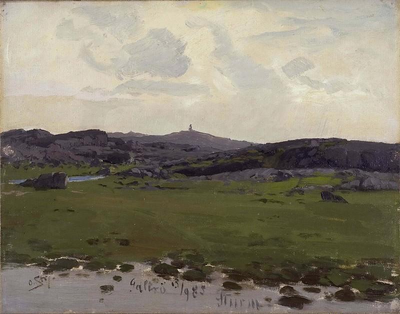 View of Galtrö. Study. Otto Strutzel