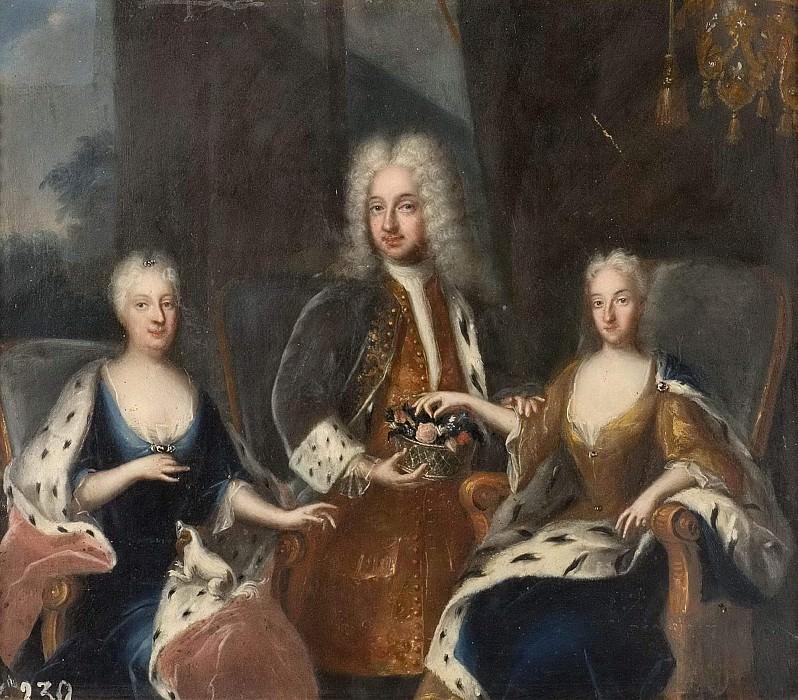 Fredrik I (1676-1751), Ulrika Eleonora dy (1688-1741), Sofia Charlotta Karolina (1678-1749). Georg Engelhard Schröder (After)