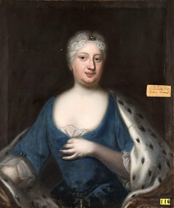 Sofia Charlotta Karolina (1678-1749), Princess of Hesse-Kassel, Duchess of Meckle. Georg Engelhard Schröder (After)