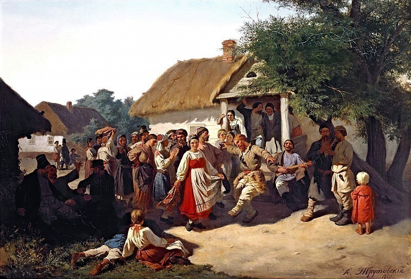 Round dance in the Kursk province. Konstantin Trutovsky