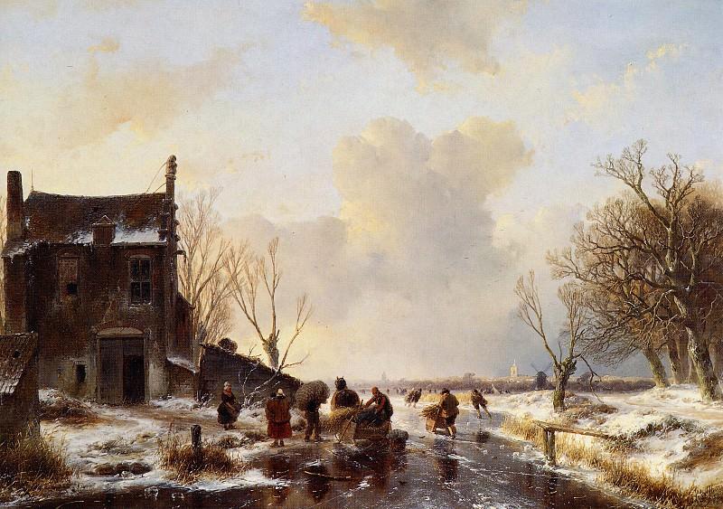 Schelfhout Andreas Winter landscape T Sun. Andreas Schelfhout