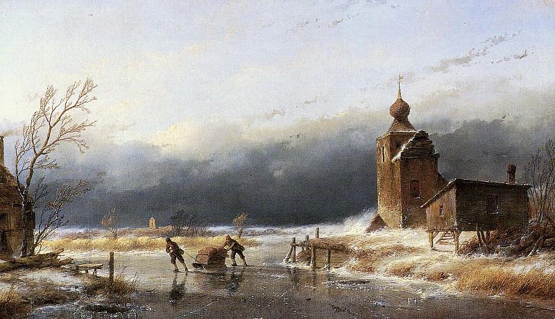 Schelfhout Andreas Scaters near castle Sun. Андреас Схелфхаут
