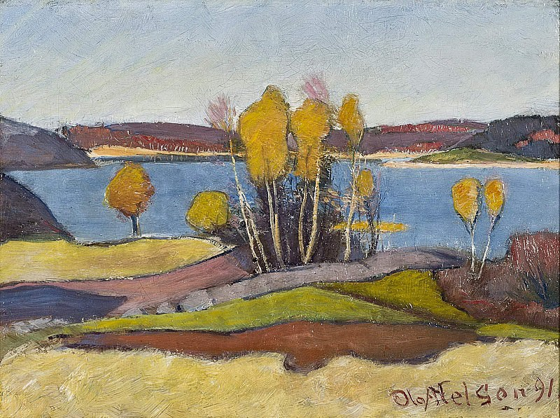 Autumn at Lake Vänern (Åmål). Olof Sager-Nelson