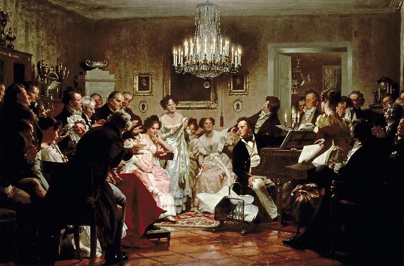 A Schubert Evening in a Vienna Salon. Julius Schmid